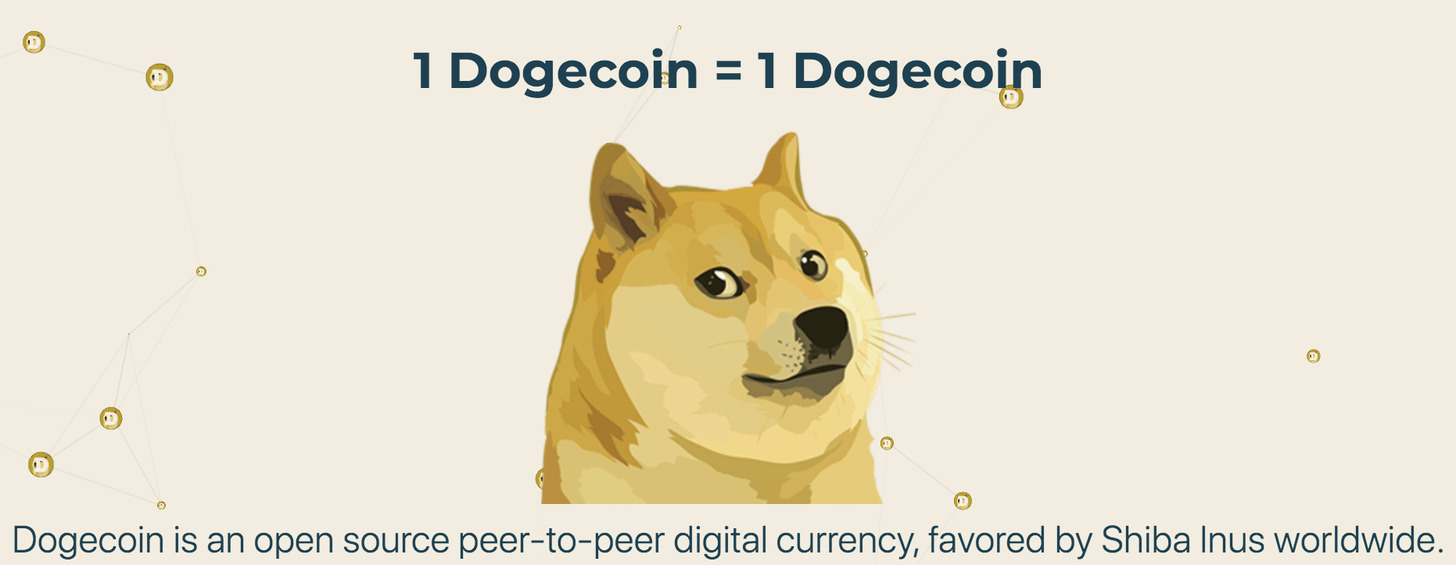 What gives Dogecoin Value? — yaro